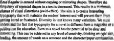 Words on a page would become distorted